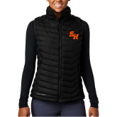 Columbia Powder Lite Ladies Black Vest-Primary Athletics Mark