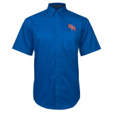 Royal Twill Button Down Short Sleeve-SH Paw Official Logo