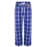 Royal/Black Flannel Pajama Pant-SH Paw Official Logo