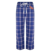 Royal/White Flannel Pajama Pant-SH Paw Official Logo