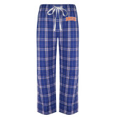 Royal/White Flannel Pajama Pant-Arched SHSU