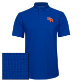 Royal Dry Zone Grid Polo-SH Paw Official Logo