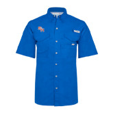 Columbia Bonehead Royal Short Sleeve Shirt-SH Paw Official Logo
