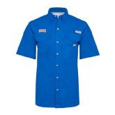 Columbia Bonehead Royal Short Sleeve Shirt-Arched SHSU