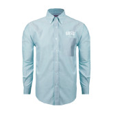 Mens Light Blue Oxford Long Sleeve Shirt-Arched SHSU