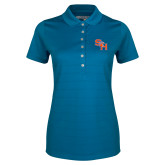 Ladies Callaway Opti Vent Sapphire Blue Polo-SH Paw Official Logo