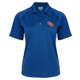 Ladies Royal Textured Saddle Shoulder Polo-SH Paw Official Logo