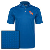 Callaway Magnetic Blue Jacquard Polo-SH Paw Official Logo