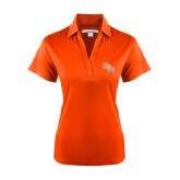 Ladies Orange Performance Fine Jacquard Polo-SH Paw Official Logo