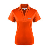 Ladies Orange Performance Fine Jacquard Polo-Arched SHSU