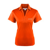 Ladies Orange Performance Fine Jacquard Polo-Bearkats