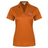 Ladies Orange Performance Fine Jacquard Polo-SH Paw Official Logo
