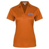 Ladies Orange Performance Fine Jacquard Polo-Arched SHSU