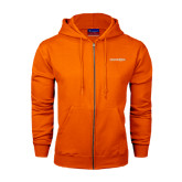 Champion Orange Fleece Full Zip Hood-Bearkats