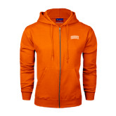 Champion Orange Fleece Full Zip Hood-Arched SHSU