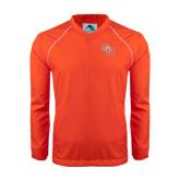 Colorblock V Neck Orange/White Raglan Windshirt-SH Paw Official Logo