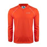 Colorblock V Neck Orange/White Raglan Windshirt-Bearkats