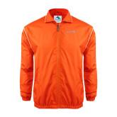 Colorblock Orange/White Wind Jacket-Bearkats