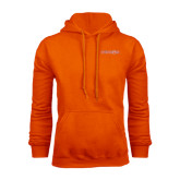 Orange Fleece Hood-Bearkats