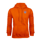Orange Fleece Hood-Bearkat Head