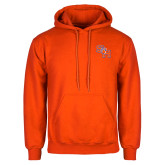 Orange Fleece Hoodie-SH Paw Official Logo