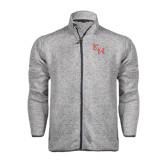 Grey Heather Fleece Jacket-SH Paw Official Logo