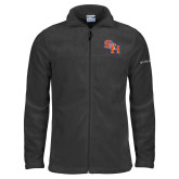 Columbia Full Zip Charcoal Fleece Jacket-SH Paw Official Logo