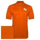 Orange Dry Mesh Polo-Primary Athletics Mark