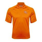 Orange Textured Saddle Shoulder Polo-SH Paw Official Logo