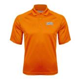 Orange Textured Saddle Shoulder Polo-Arched SHSU