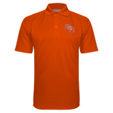 Orange Textured Saddle Shoulder Polo-SH Paw Official Logo
