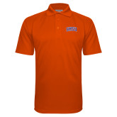 Orange Textured Saddle Shoulder Polo-Arched SHSU