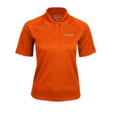 Ladies Orange Textured Saddle Shoulder Polo-Bearkats