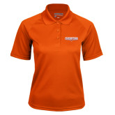 Ladies Orange Textured Saddle Shoulder Polo-2016 Southland Conference Football Champions Flat
