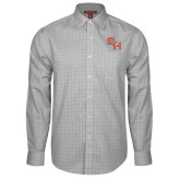 Red House Grey Plaid Long Sleeve Shirt-SH Paw Official Logo