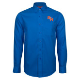 Red House French Blue Long Sleeve Shirt-SH Paw Official Logo