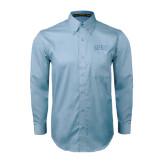 Light Blue Twill Button Down Long Sleeve-Arched SHSU