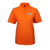 Ladies Easycare Orange Pique Polo-Arched SHSU