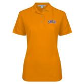 Ladies Easycare Orange Pique Polo-Arched SHSU