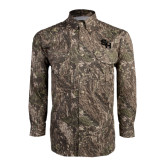 Camo Long Sleeve Performance Fishing Shirt-SH Paw Official Logo