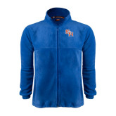 Fleece Full Zip Royal Jacket-SH Paw Official Logo