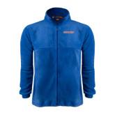 Fleece Full Zip Royal Jacket-Bearkats