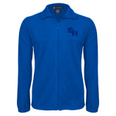 Fleece Full Zip Royal Jacket-SH Paw Official Logo
