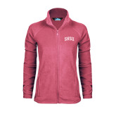 Ladies Fleece Full Zip Raspberry Jacket-Arched SHSU