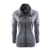 Ladies Sport Wick Stretch Full Zip Charcoal Jacket-Arched SHSU
