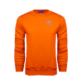 Orange Fleece Crew-SH Paw Official Logo