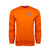 Orange Fleece Crew-Bearkat Head