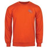 Orange Fleece Crew-SH Paw Official Logo