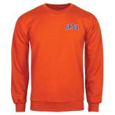 Orange Fleece Crew-Arched SHSU
