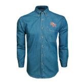 Denim Shirt Long Sleeve-SH Paw Official Logo